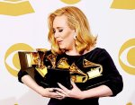 Adele With Grammys
