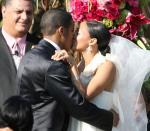Cory Hardrict & Tia Mowry Wedding Kiss